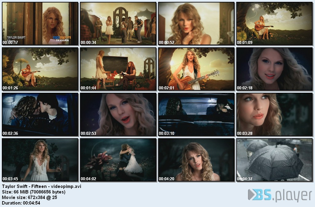 Taylor Swift - Fifteen [Music Video - TVRip - HQ]