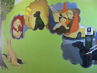 Photo of part of the finished mural