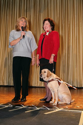 Gayle Bittner, Vickie Kennedy and Guide Dog Angela