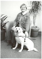 GDB alumna Lois Seigal with Guide Dog Savita