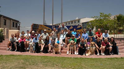 Group photo of puppy raisers at the