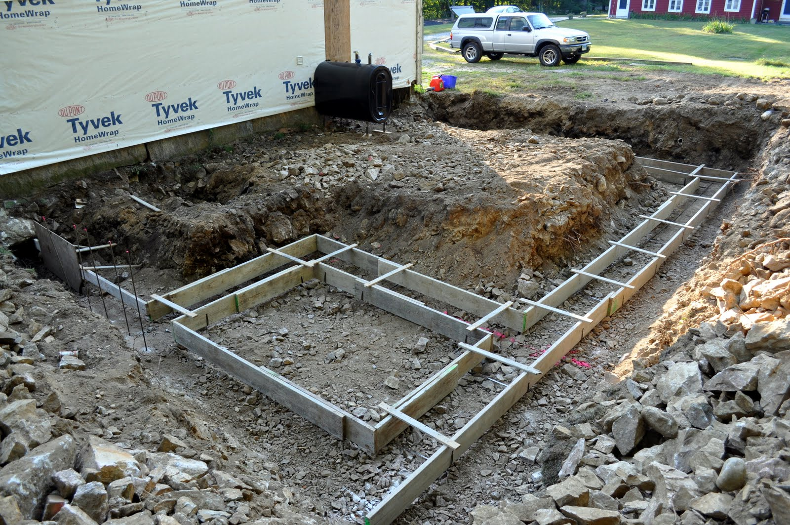 The Grange House Garage Foundation 1