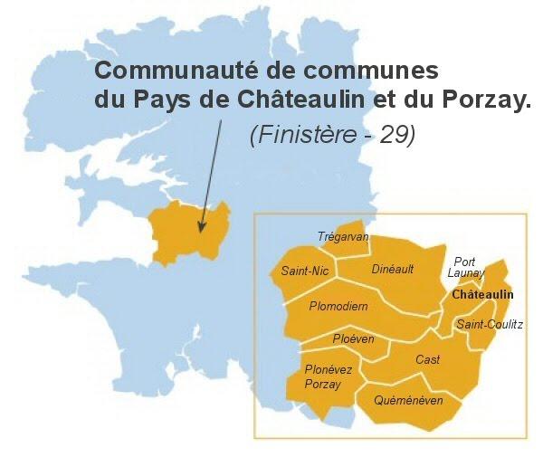 Carte du Pays de Châteaulin et du Porzay