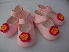 zapatilla rosa tallas 18 y 19