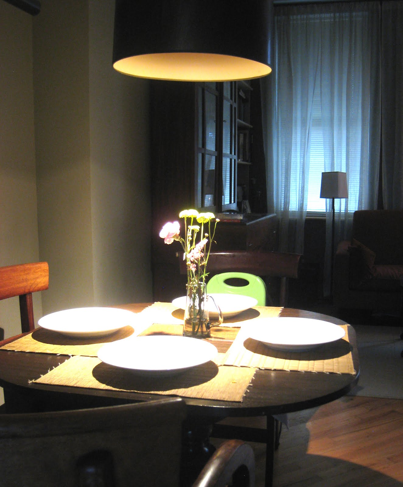 Mowery marsh architects llc dining table pendant for Over dining table pendant lights