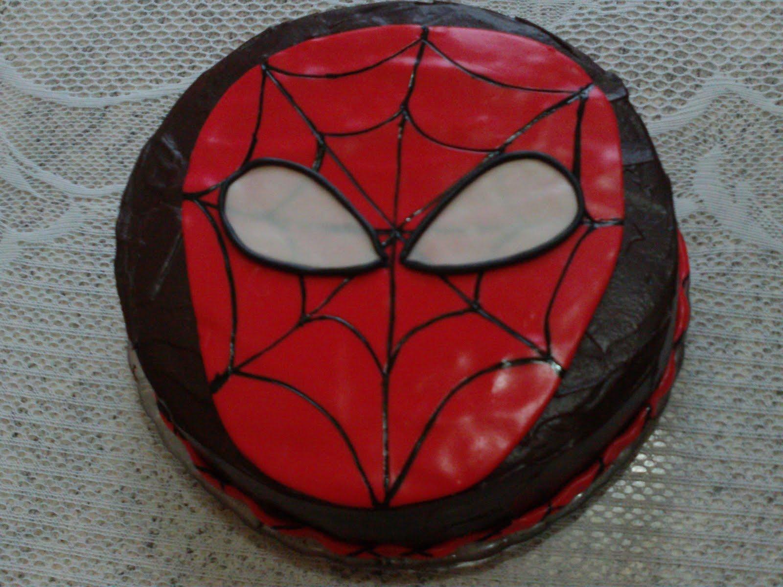 Doce imaginao bolo homem aranha simples bolo homem aranha simples altavistaventures Image collections