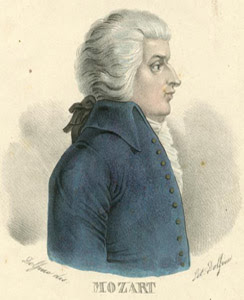W. A. Mozart - fonte da imagem: Joseph Muller Collection of Music and Other Portraits at http://digitalgallery.nypl.org/