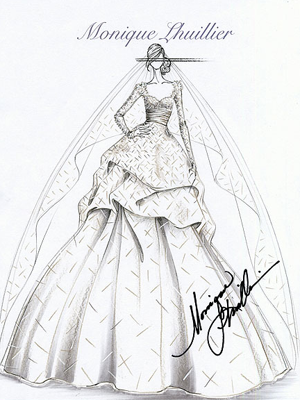 25dresses Kate Middleton S Wedding Gown Sketches