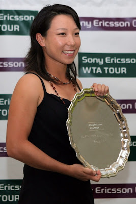 Photo of Zheng Jie at the 2009 WTA Tour player awards in Miami