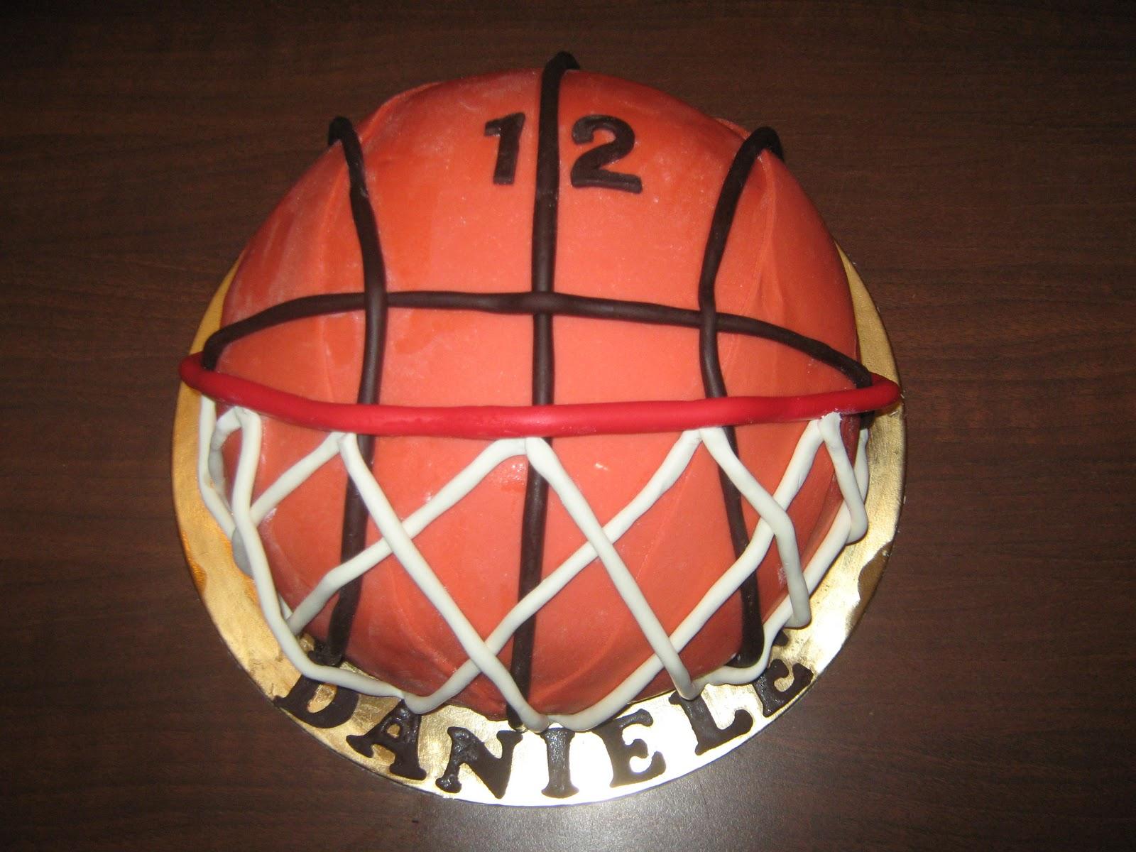 Le torte di barbara pallone da basket canestro for Decorazione a canestro