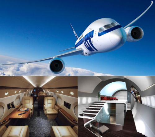 Lifestyle cafe top 10 most luxurious aircraft interiors for The most expensive airplane