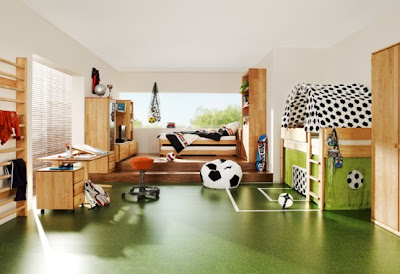 Fresh-ideas-for-child-colors-with-white-wall-pine-bed-and-wood-floor