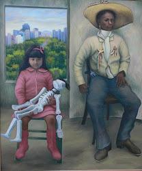 Retrato doble. Sofía y soldadera
