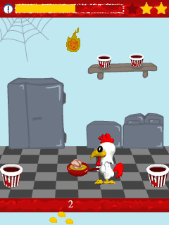 FryingFrenzy - Flash Mobile Game Review: Chickn 2Go
