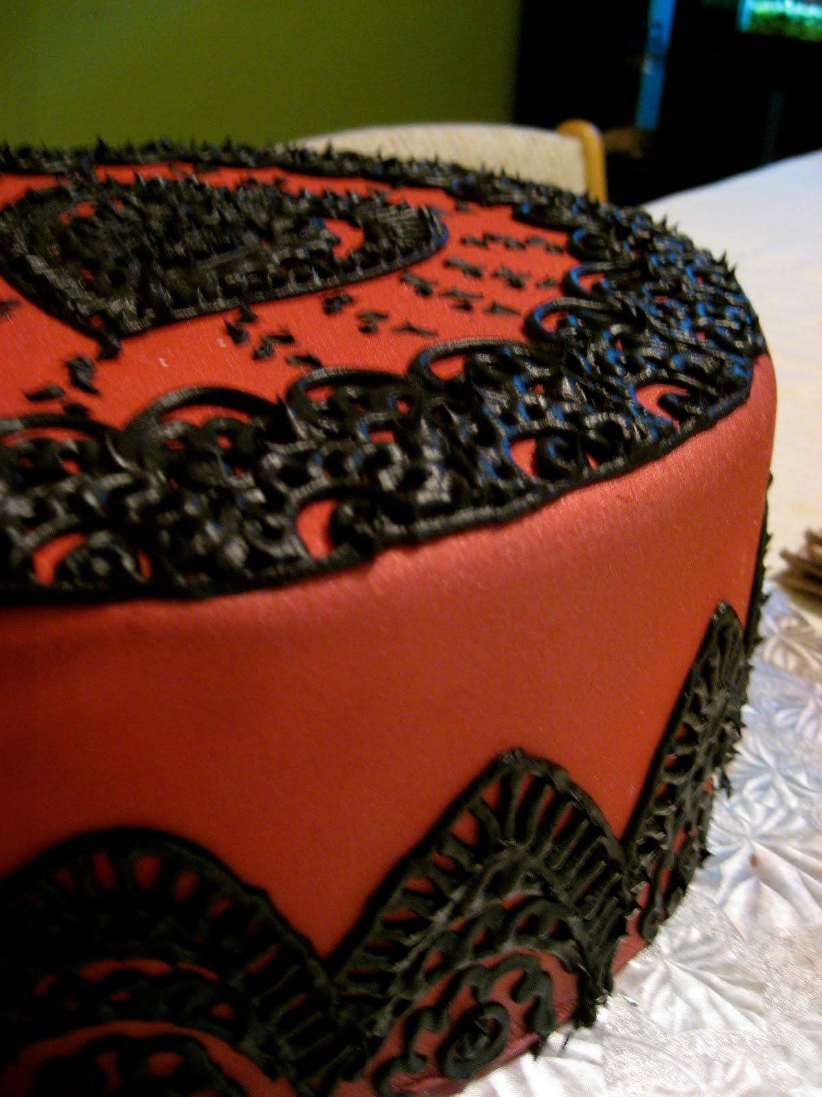 Mehndi Inspired Cake : Eat cakes mehndi inspired