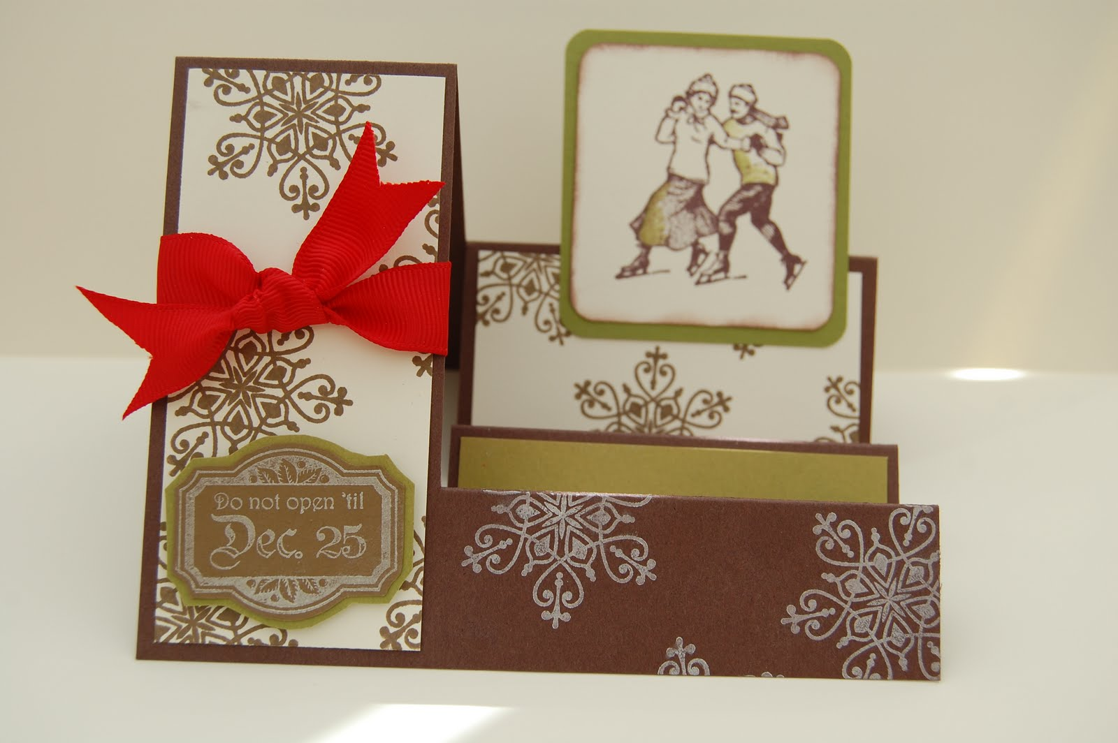 So here is the second card, the stamp set that was used is Winter Post