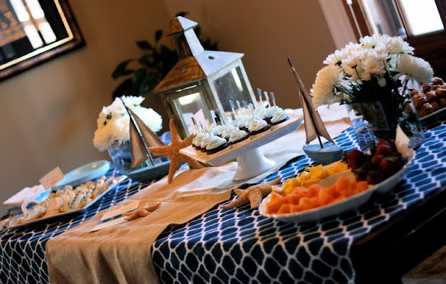 ships ahoy it s a boy this nautical baby shower featured on party
