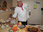 Frank at work, antipasto bar
