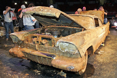Buried car being dug up after 50 years ~ Damn Cool Pictures