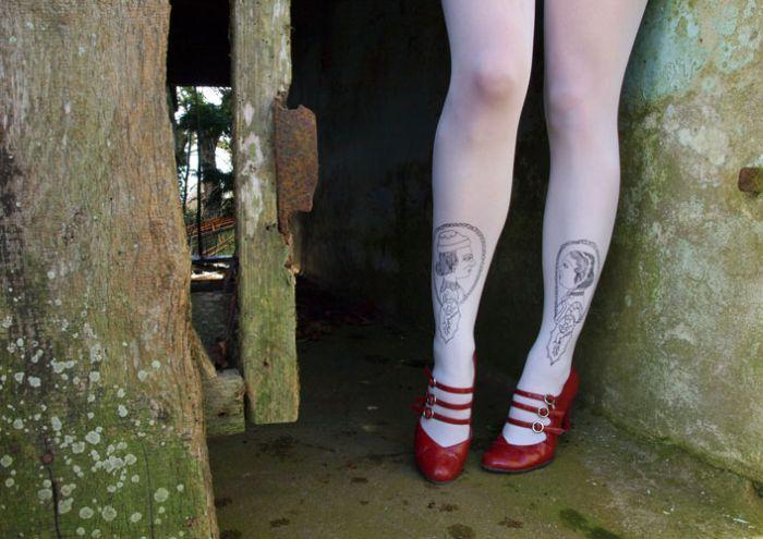 Meias-calças criativas e incomuns