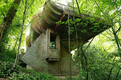 this tree house was built by robert harvey oshatz in the forests of portland oregon designed in 1997 and completed in 2004 the wilkinson residence is in