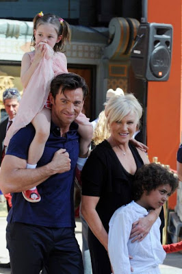 Hugh  Michael Jackman and his family