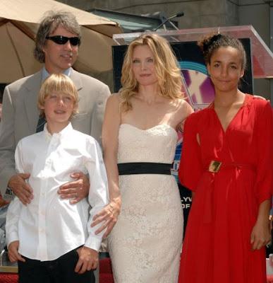 Michelle  Pfeiffer and children