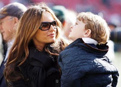 Melania  Trump and her son Baron