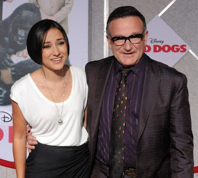 Robin  Williams and his daughter Zelda