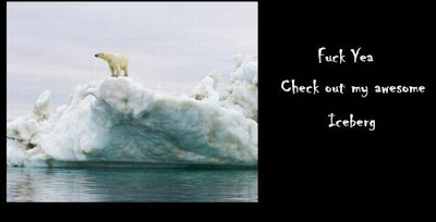 Global Warming Explained by a Polar Bear Seen On www.coolpicturegallery.net