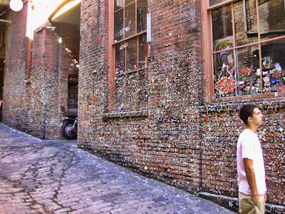 Where is The Gum Wall Located?