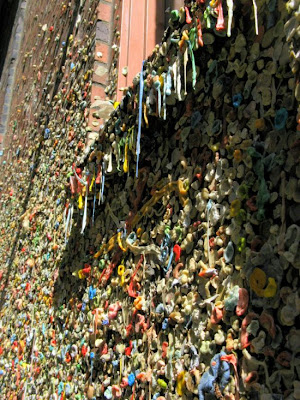 The Seattle Gum Wall Seen On www.coolpicturegallery.net
