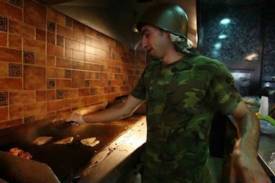 Military-Themed 'Buns and Guns' Restaurant (Lebanon)