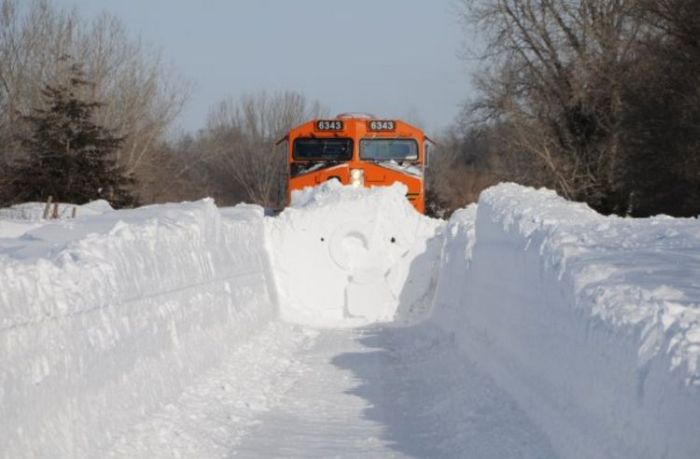 Snowblower Trains Damn Cool Pictures