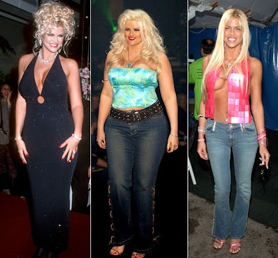 Lisa Marie Presley in 1995, 2004, 2007 and 2008. Anna Nicole Smith in 1993, ...
