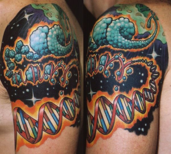Hip Scientific Tattoos: Evolution Ink, DNA Helix Tattoos, Periodic Table of