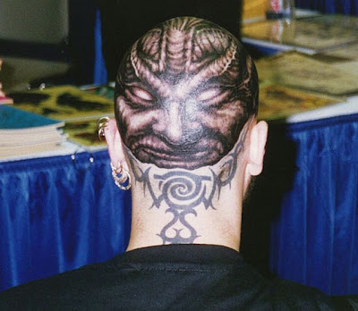 Bald Head Tattoos