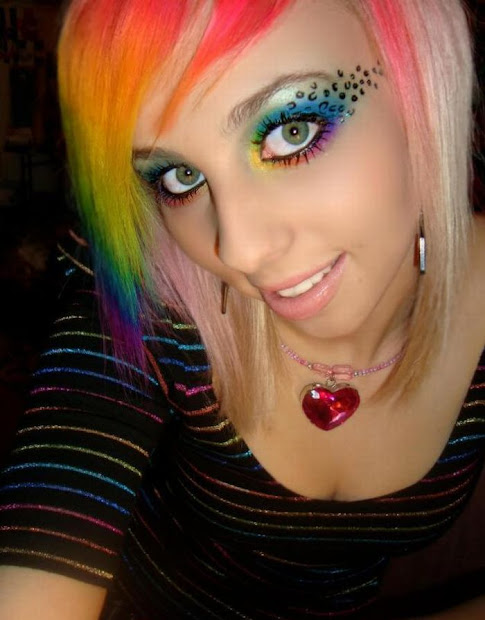 rainbow makeup damn cool