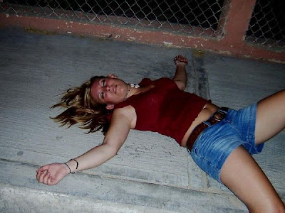 Hot nude female passed out