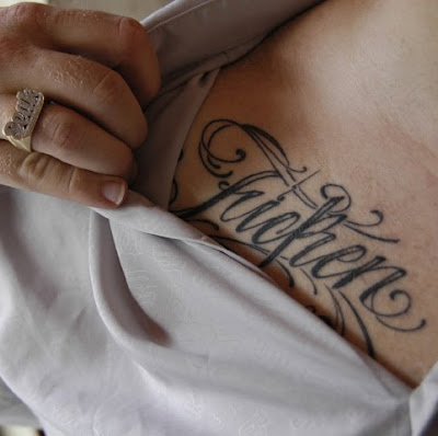 Typographic Tattoos | Types of tattoo writing styles