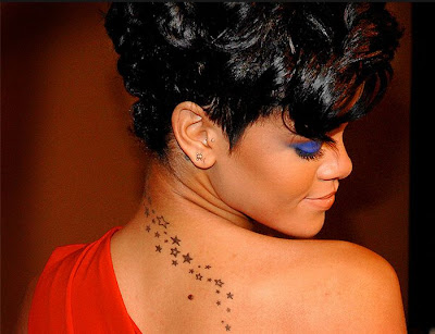 Rihanna Tattoos on Counter Tattoo  Rihanna Tattoo