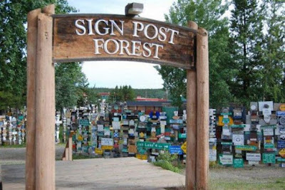 Sign Post Forrest of Watson Lake, Alaska Seen On  www.coolpicturegallery.net