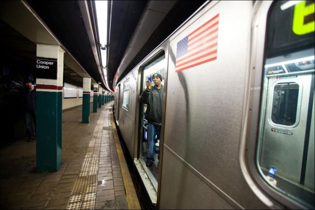 Star Wars On The New York Subway Damn Cool Pictures