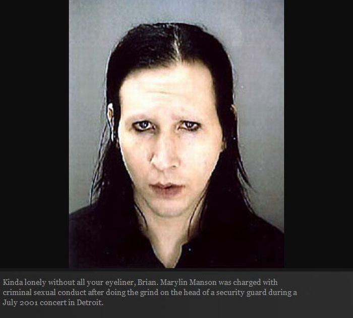 High profile celebrity arrests records