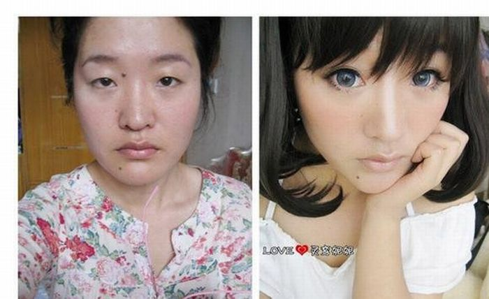 Make and natural ~ Before Girls  Asian Damn make makeup After Up all Cool Pictures