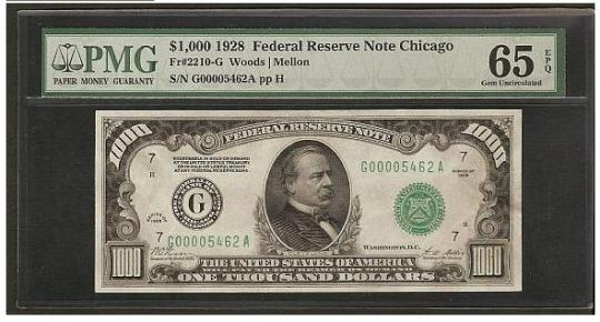The Biggest Dollar Bills in History: $500 to $100000 ~ Damn Cool