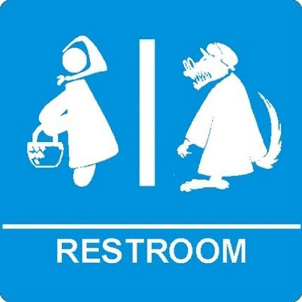 Hilarious public restroom signs damn cool pictures for Cool bathroom signs