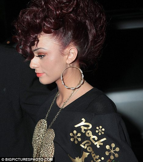 rihanna red hair curly hair. rihanna red hair curly hair.