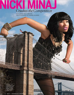 "The cover story is title ""Crushes The Comepetition"" where Nicki Minaj talk"