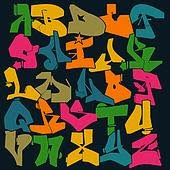 graffiti alphabet, graffiti art